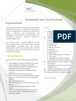 BA005 DCO Software Test Management and Test Processes Improvement