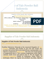 Supplier of Talc Powder Bali Indonesia