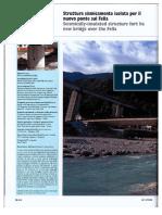 Struttura sismicamente isolata per il nuovo ponte sul Fella