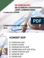 Konsep Dan Kebijakan SOP Dalam Rangka RB