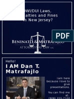 DWI, DUI Laws, Penalties and Fines in New Jersey