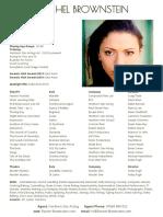 Rachel Brownstein Leeds Acting-CV