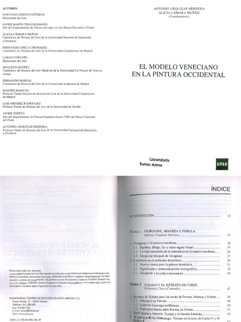 El Modelo Veneciano en La Pintura Occidental