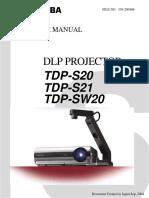 116959793 toshiba tdp s20 service manual pdf computer terminal rh scribd com Toshiba Laptop User Manual Toshiba E-Studio203sd Manuals