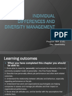 Individual Differences and Diversity Management
