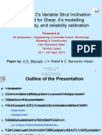 Eurocode 2 Variable Strut Inclination Method for Shear, its Modelling Uncertainty, and Reliability Calibration