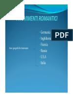 Movimenti Romantici in Europa