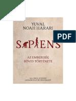 Yuval Noah Harari - SAPIENS - Az Emberiseg Rovid Tortenete
