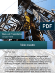oil rig presentation template