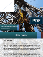 oil rig presentation template