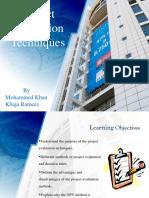 Project Evaluation Techniques