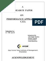 Performance Appraisal in c.e.l