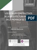 Torres - Los Detalles Constructivos de La Arquitectura Mudejar en La Provincia de Teruel