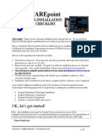 CP PreInstall Checklist