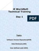 JDE WorldSoft Technical Training-Sukanth