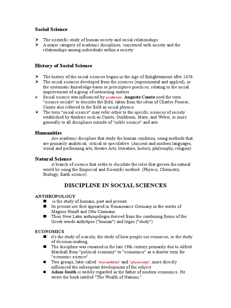 Grade 11 Humss Diss | Social Sciences | Academia