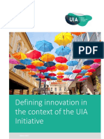 Definition of Innovation in UIA Context_2017