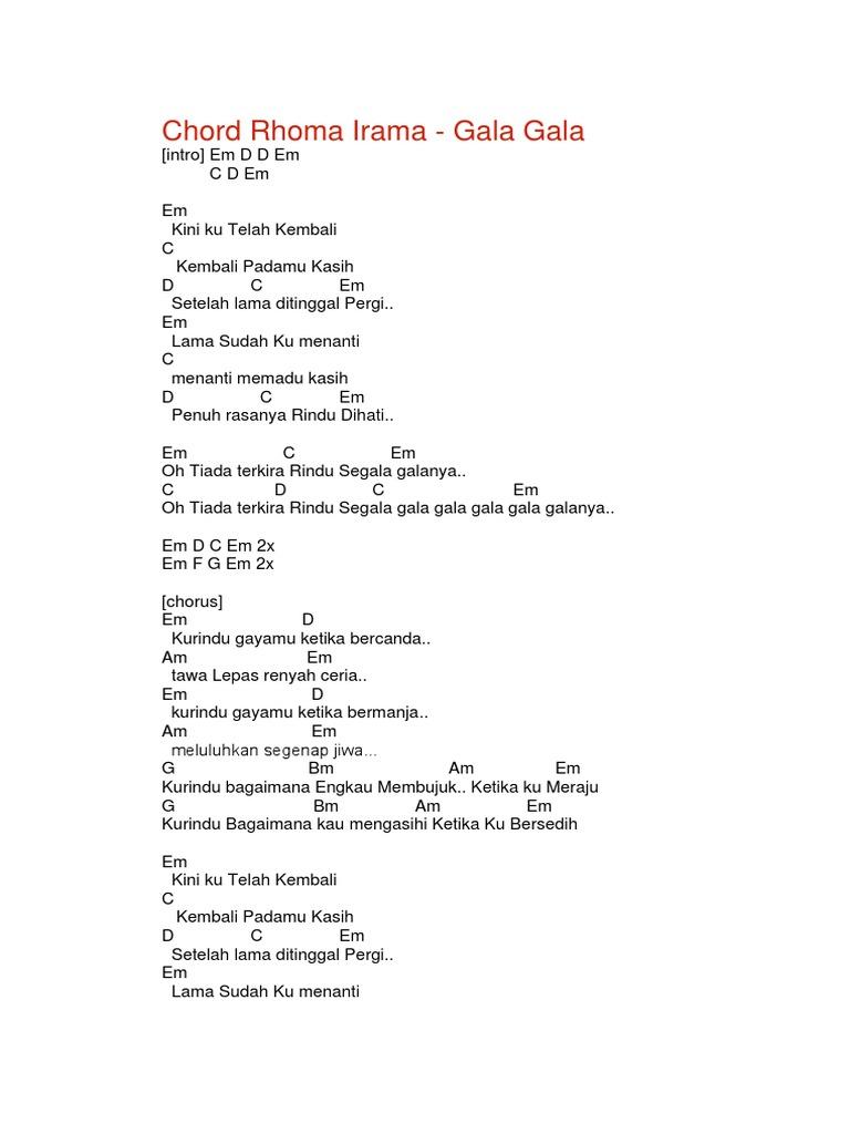 Chord Rhoma Irama