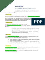 Public API's for FA Transactions