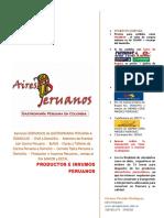 Ingredientes Peruanos- Aires Peruanos