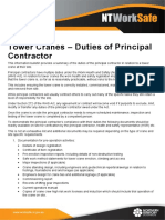 Tower Cranes Duties of Principal Contractor