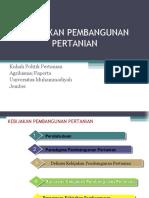 3. Kebijakan Pembangunan Pertanian