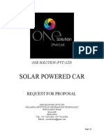 Rfp for Solar Powered Car