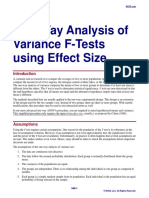 One-Way Analysis of Variance F-Tests Using Effect Size