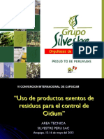 1. Manejo de Oidium - Grupo Silvestre