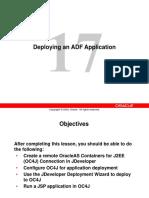 Deploying an ADF Application