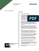 Examen NT2 Programma I spreken 2003-2004