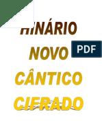 Livro de Cifras Hinc3a1rio Novo Cc3a2ntico Completo