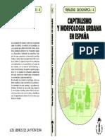 Capitalismo Y Morfologia Urbana en España - Horacio Capel
