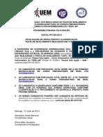Edital 005 Divulgacao de Resultados de Classificacao Do Teste de Nivelamento p