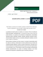 Análisis Legal Semanal 1 Equilibrio Entre La Norma y La Justicia