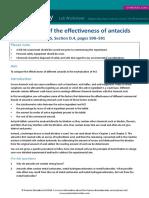 15.1 Investigation Effectiveness Antacids