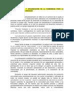Empoderamiento y Organización de La Comunidad Para La Mitigación de Los Riesgos