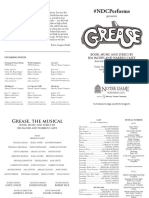 Grease S17 Playbill