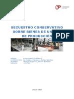 Secuestro conservativo en unidades de bienes de producción