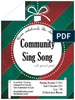 Community Sing-Song Poster