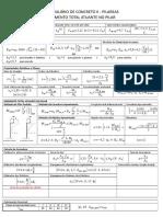 Formulário Concreto Pilares - Momento de Segunda Ordem