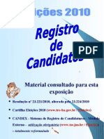 Eleições 2010 - Candidatos