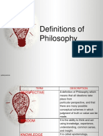 Definitions of Philosophy