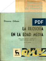 Gilson, Etienne, La Filosofía en La Edad Media