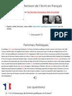 Les Femmes Politiques Françaises