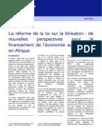00 Client Briefing La r Forme de La Loi Sur La Titrisation de Nouvelles Perspectives Avril 2013 6017933 6030973