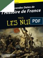 Jean-Joseph Julaud-Les Grandes Dates de l'Histoire de France Pour Les Nuls-First (2014)
