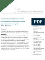 How to Study Engineering Mathematics for GATE GATE Guru by Kreatryx