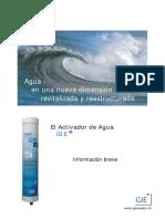 FILTRO GIE instrucciones en español PDF