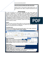 Funciones de Cintas de Opciones de Microsoft Office 2010
